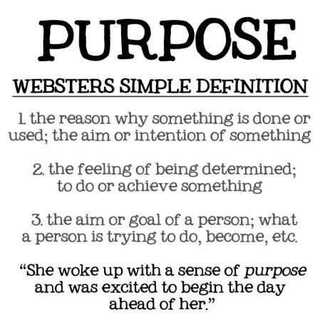 Purpose-def